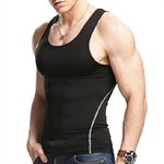 HOTER Mens Tight Breathable Sport Milk Silk Vest Fitness Athletic Tank Top