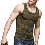 HOTER Men's Army Green Under Base Layer, Leisure Sports Vest