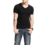 HOTER Mens V-Neck Breathable Sport Shirt Fitness Athletic T-Shirt