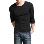 HOTER Mens Basic Crew Neck Long Sleeve Slim Fit T-shirts
