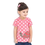 VENIMASEE® Lovely Pink Polka Dots Pure Cotton Kids Girls T-Shirts