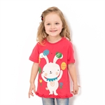 VENIMASEE® Lovely Red Cartoon Pure Cotton Kids Girls T-Shirts