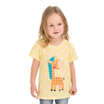 VENIMASEE® Lovely Yellpw Giraffe Cartoon Pure Cotton Kids Girls T-Shirts
