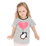 VENIMASEE® Lovely Penguin Pure Cotton Kids Girls T-Shirts
