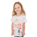 VENIMASEE® Cute White Rabbit Cartoon Pure Cotton Kids Girls T-Shirts