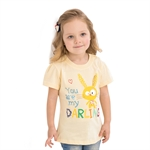 VENIMASEE® Cute Yellow Rabbit Cartoon Pure Cotton Kids Girls T-Shirts