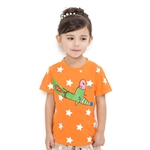 VENIMASEE® Cute Orange Star Cartoon Pure Cotton Kids Girls T-Shirts