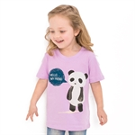 VENIMASEE® Cute Purple Panda Cartoon Pure Cotton Kids Girls T-Shirts