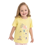 VENIMASEE® Cute Yellow Cartoon Pure Cotton Kids Girls T-Shirts