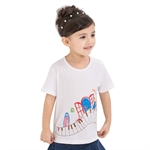 VENIMASEE® Cute White Cartoon Pure Cotton Kids Girls T-Shirts