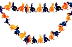 Hoter® Halloween Party Supplies, Witch Paper Garland, Pulling Paper Flower For Halloween Decoration, 1 Piece- On Sale!!!