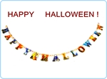 "Hoter® Halloween Party Supplies, Colorful Paper Garland, Pulling Paper Flower For Halloween Decoration ""HAPPY HALLOWEEN"", 1 Piece- On Sale!!!"