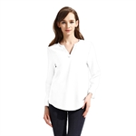 VENI MASEE New Elegant Casual Chiffon Solid Shirt Top Tailored Blouse