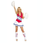 AYOZEN Ladies Cheerleader Costume, Size 8-12