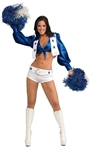 AYOZEN Women's Dallas Cowboy Cheerleader Costume, One Size