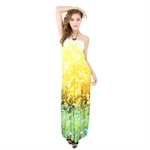 H:oter® SweetyLady Bohemia Exotic Wrap Chest Floral Print Silky Long Maxi Dress Summer Dress