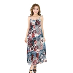H:oter® SweetyLady Bohemia Exotic Halter Style Floral Print Cotton Long Maxi Dress Summer Dress