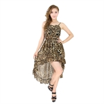 H:oter® SweetyLady Sexy Leopard Print Irregular Long Maxi Dress Summer Dress