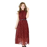 H:oter® SweetyLady Polka Print Chiffon Long Maxi Dress Summer Dress
