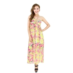 H:oter® SweetyLady Sunflower Floral Print Chiffon Long Maxi Dress Summer Dress