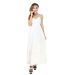 H:oter® SweetyLady Fairy Pure Color Deep V Halter Style Long Maxi Dress Summer Dress