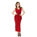 H:oter® SweetyLady Hot Sexy Red Fairy Deep V Halter Style Evening Dress Long Maxi Dress Summer Dress