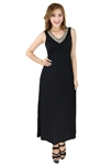 H:oter® SweetyLady Deep V Neck Elegant Modal Evening Dress Long Maxi Dress Summer Dress