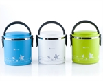Hoter 1.8 Liter Lunch Box 2 In 1 With 1 Compartment, Stainless Steel Food Container, Cylindrical Snack Container