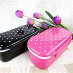 Hoter Fashion Round Dot Design Lunchbox To-Go, With 1 Compartment Food Box, Plastic Food Container, Rectangular Snack Container