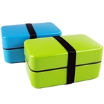 Hoter Fashion Design Sushi Box To-Go, With 1 Compartment Food Box, Plastic Food Container, Small Rectangular Snack Container