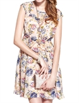 MOONBASA® Romantic Flower Printing Ladys' One Piece Dress