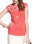 MOONBASA® Women Romantic 3D Flower T Shirt - Red