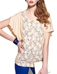 MOONBASA® Women Romantic 3D Flower Frills T Shirt - Cream
