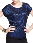 MOONBASA® Women Quality Polka Dots T Shirt - Royal Blue