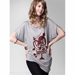 Moonbasa® 2011 Latest Autumn Personality Bat-wing Sleeve Printing Women T-Shirts