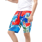 VENI MASEE® Men's Coconut Tree Printing Boardshorts, Quick-dry Beach Shorts