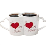 Peronalized Lover's Mug/ Lover Mug cup with Frosted SurfacePrice for one set