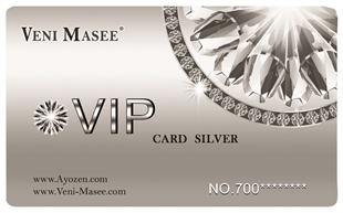 Silver Vip Discount Card /Price for one piece