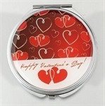 HOLI® Love Heart Round Mirror Cosmetic Mirror Compact Mirror, Gift Idea, Gift Box Included