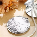 HOLI® Black and White Leaf Round Mirror Cosmetic Mirror Compact Mirror, Gift Idea, Gift Box Included