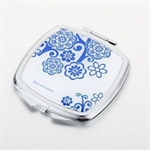 HOLI® Chinoiserie Porcelain Square Mirror Cosmetic Mirror Compact Mirror, Gift Idea, Gift Box Included