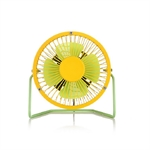 VENI MASEE USB Fan Bump The Color Quiet Table Desk Personal Fan Cooling Fan for Office,Home and School , High Compatibility(4 Inch)