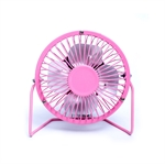 VENI MASEE 4 Inch USB Fan Powered Mini Personal Fan for Home, Office, Bedroom ,Desktop Fan Metal Frames Cooling Fan with 360 Rotation and Adjustable Angle