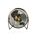 VENI MASEE 4-Inch Bronze USB Fan 4 Aluminum Blades Mini Fan Office Laptop Heat Dissipation