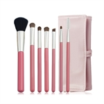 Make up Brushes-7pcs Make up Brush Set with Travel Pouch,4 colors choosing,Brings you A Soft&Smooth Makeup Tour