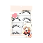 Long Thick Cross Fake Eyelashes Extension-5 pairs