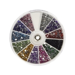 VENI MASEE® Rhinestones 2400 Piece 12 Color Nail Art Manicure Wheels