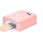 VENI MASEE® 36W UV Lamp 4 Tube Bulbs Phototherapy Nail Dryer Ideal for Beauty Salon and Household, Pink