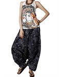 H:oter Leisure Floral Printing 2 In 1 Pants Romper Jumpsuit Bandeau