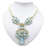 VENI MASEE® Women's  Elegant Crystal Alloy Collar Flower Bead Necklace,Gift Idea